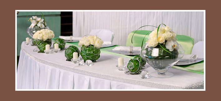 Hochzeitsdekoration - Tische für Hochzeit dekorieren - Russische ...