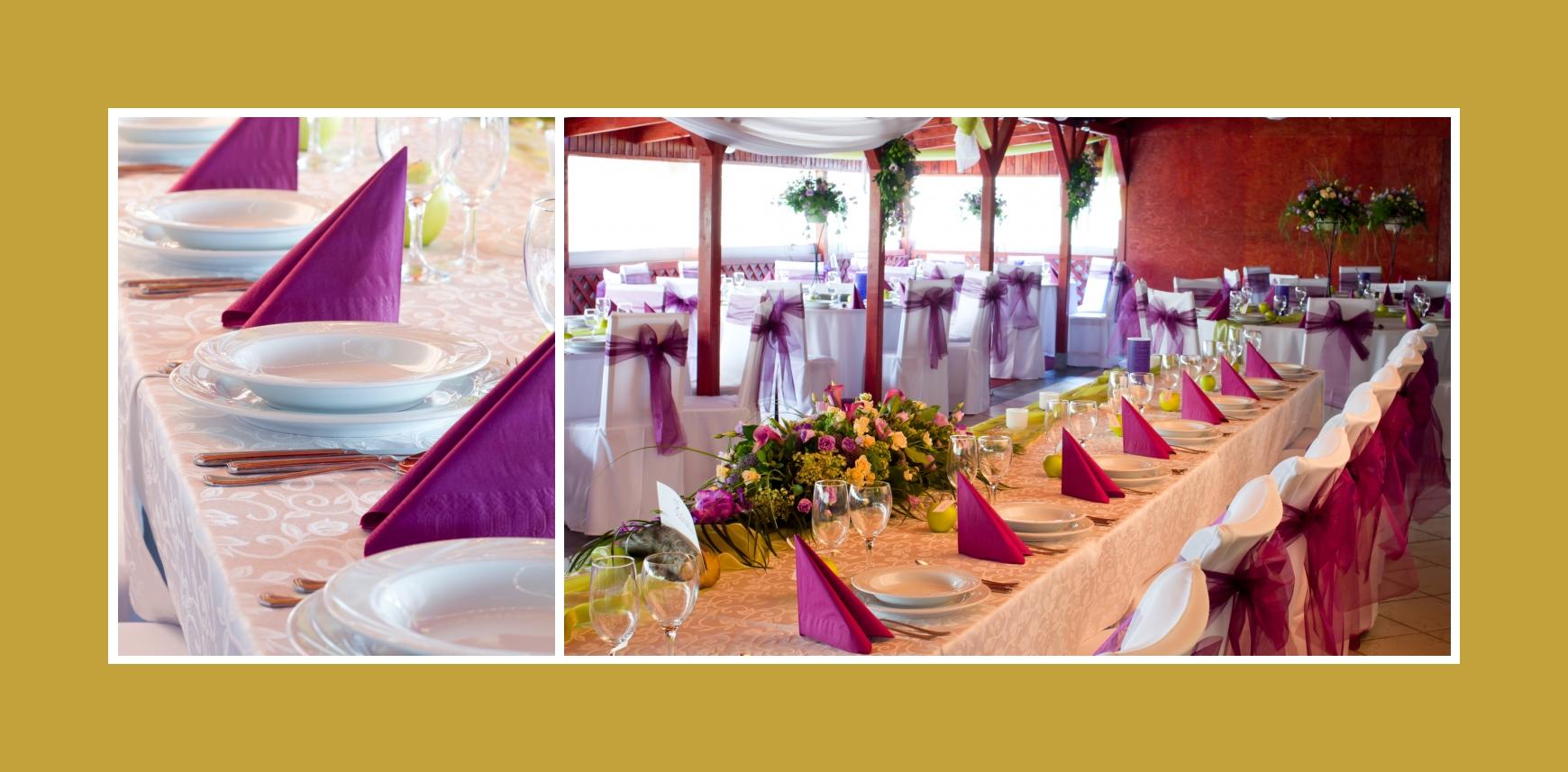 Dekorierte Gästetische Hochzeit