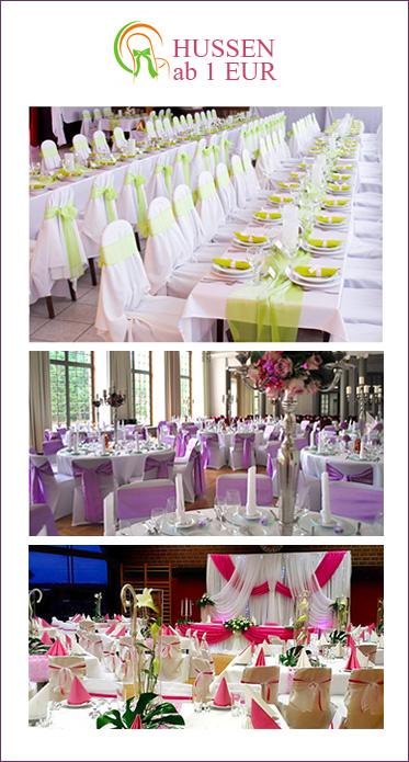 Tischdecken, Hochzeitsdekoration