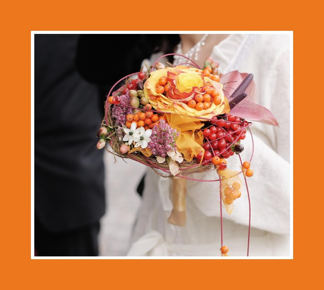 Brautstrauß Herbst mit Beeren