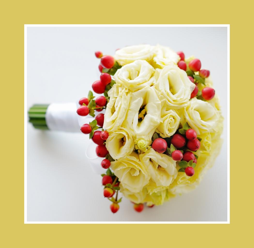 Brautstrauß kugelförmig