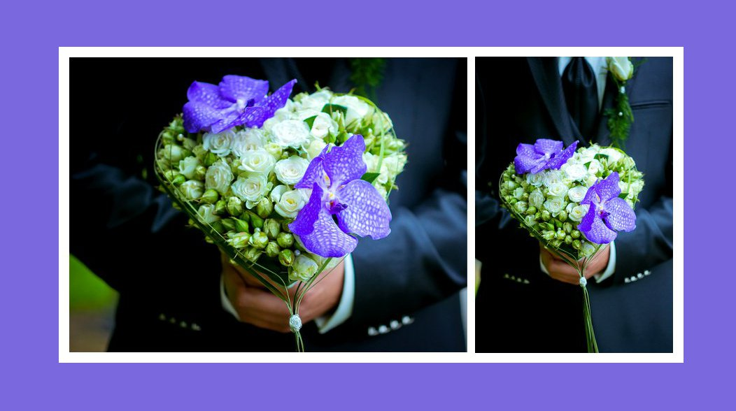 Brautstrauss violett