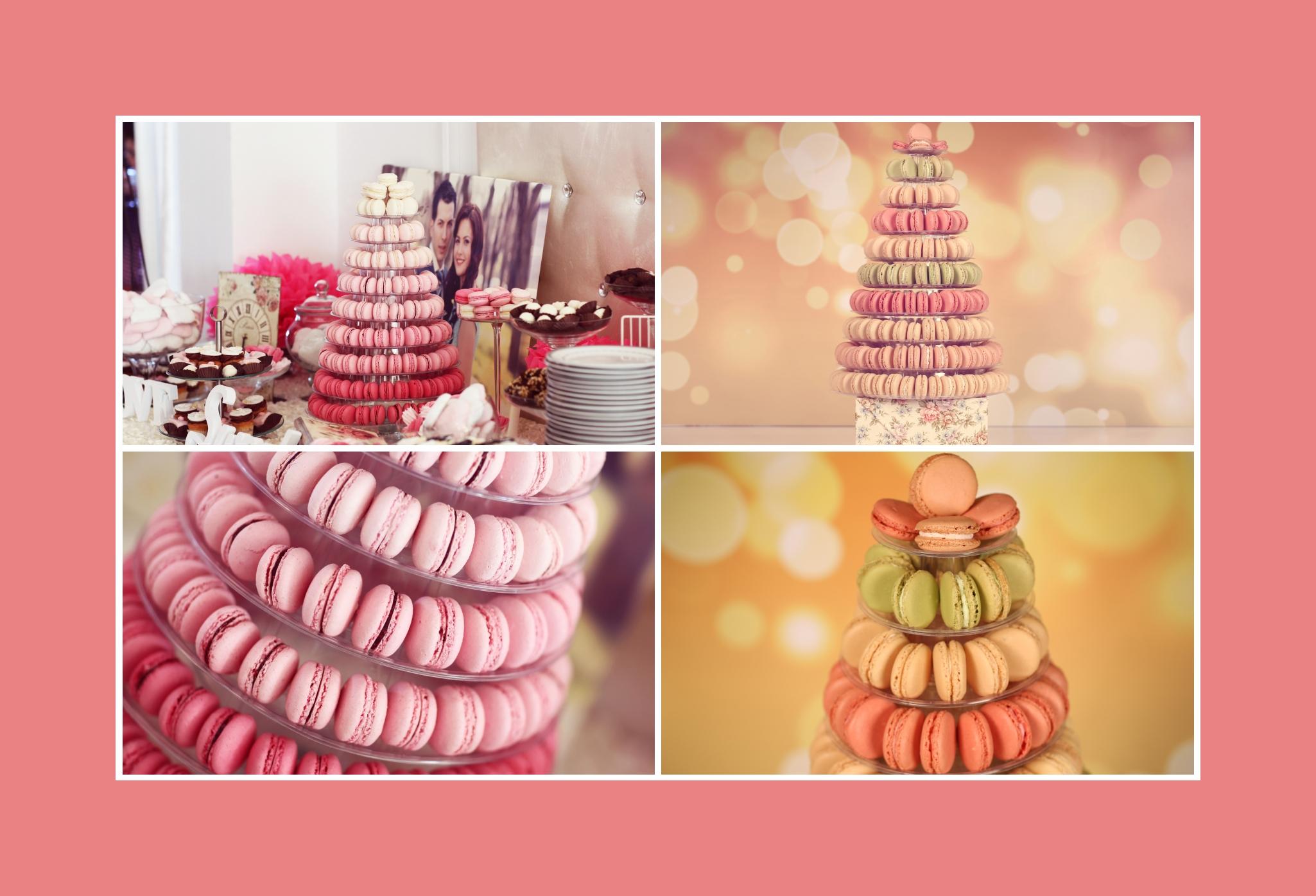 Bunte Macarons als Alternative zur Hochzeitstorte