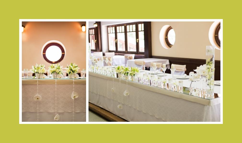 Das reine Weiß mit dem zarten Grün: Ihre Hochzeitsoase