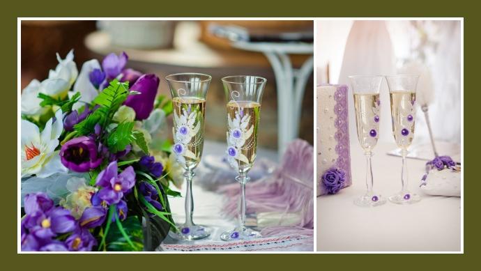 Der Atem des Frühlings: die violetten Sektgläser