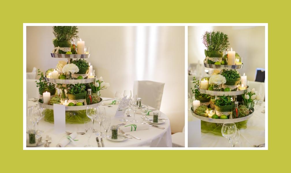 Die grüne Pyramide mit romantischem Kerzenlicht