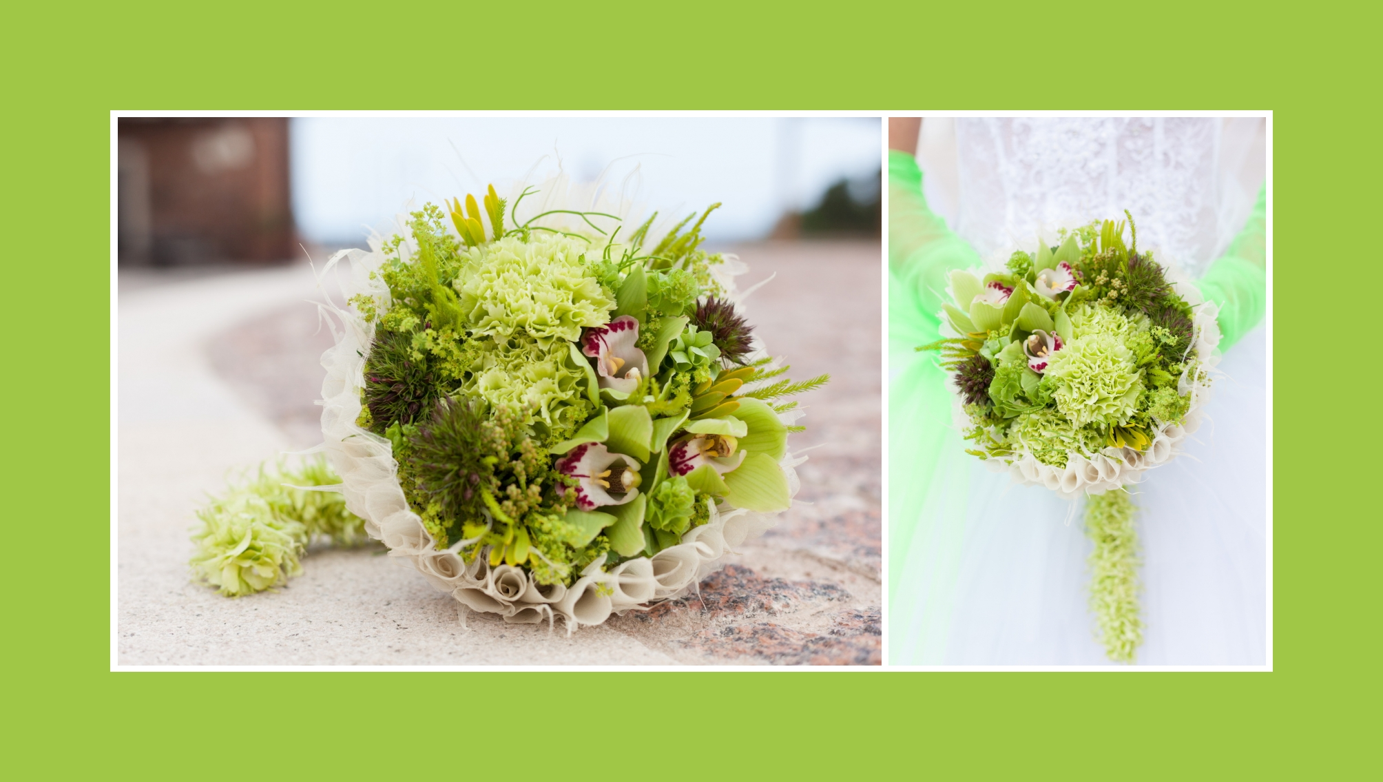 Hellgrün Brautstrauß