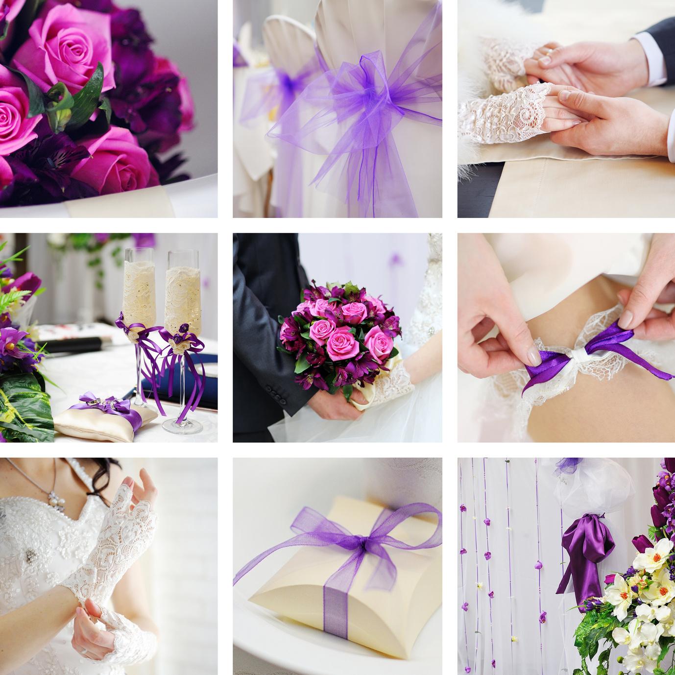 Hochzeit Purpurviolett Rosa