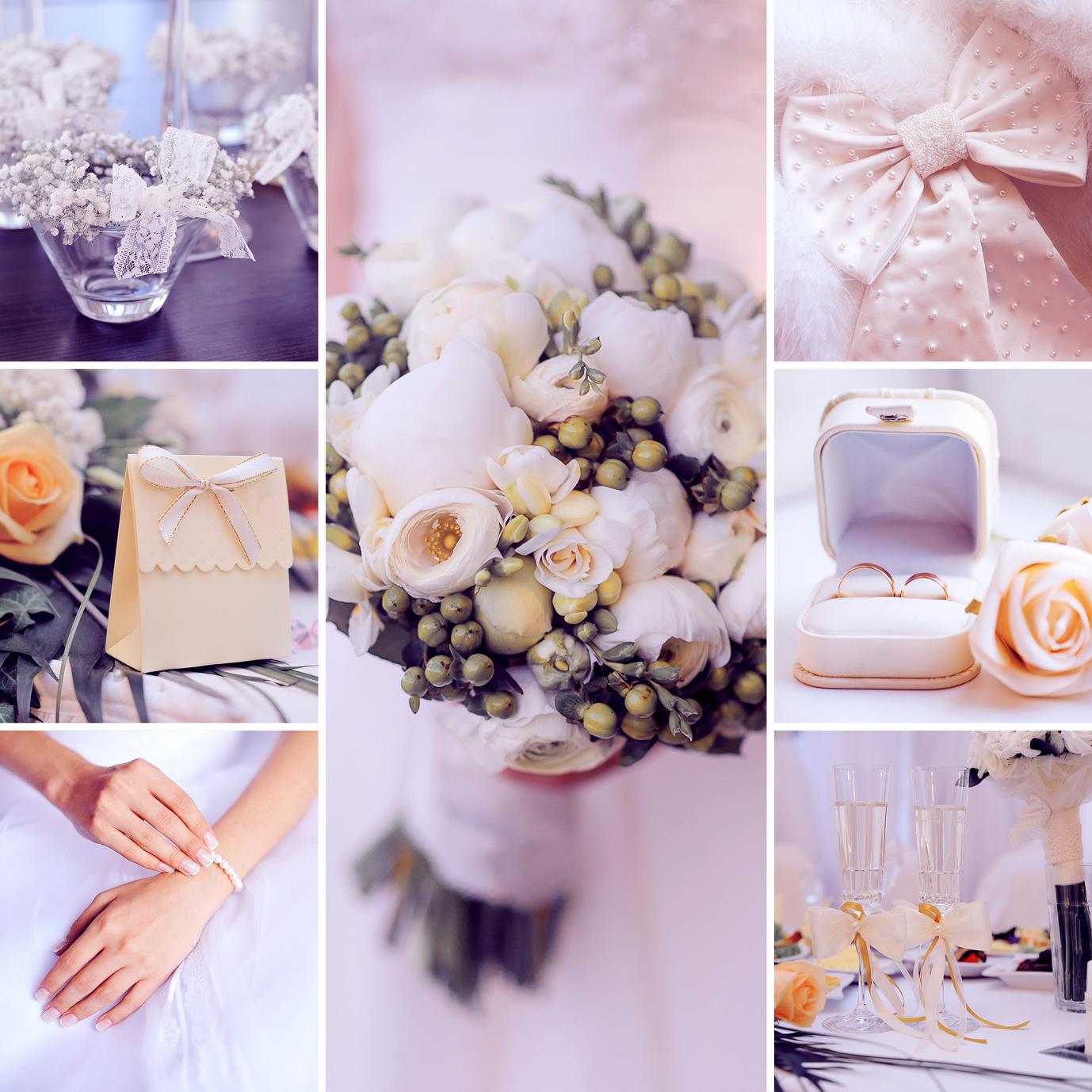 Hochzeit Zartrosa Hellbeige