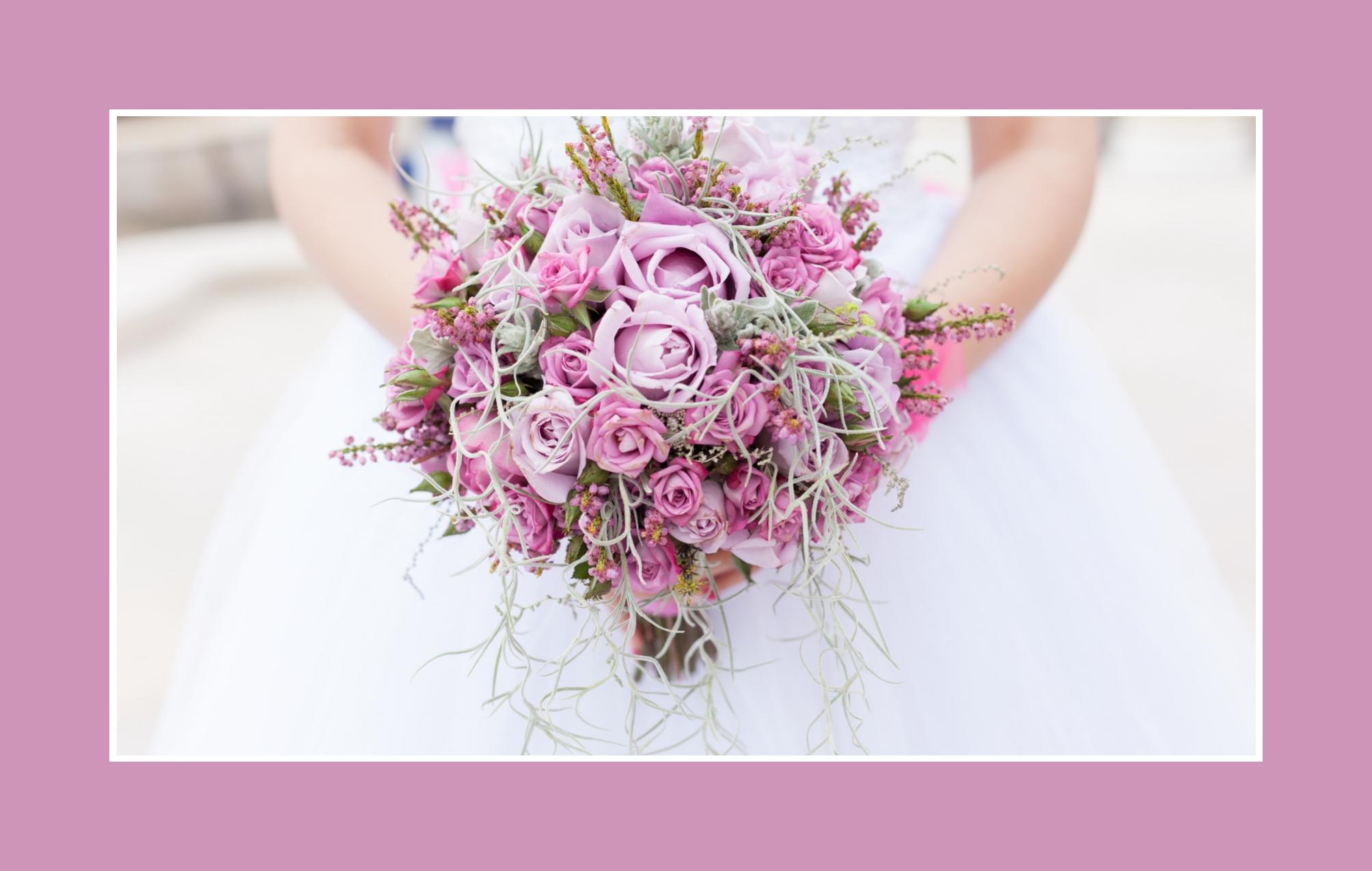 Hochzeitstrauß Rosa Lila Rosen