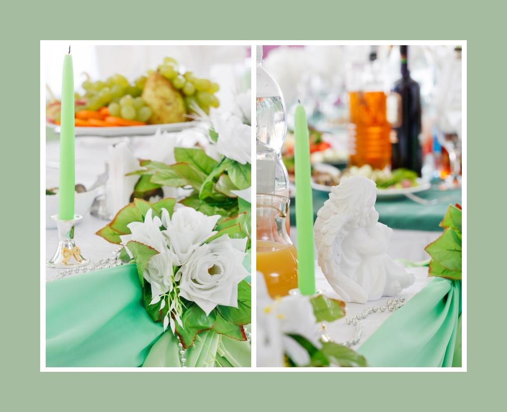 Kerzen Blumen Deko Accessoires Hochzeit