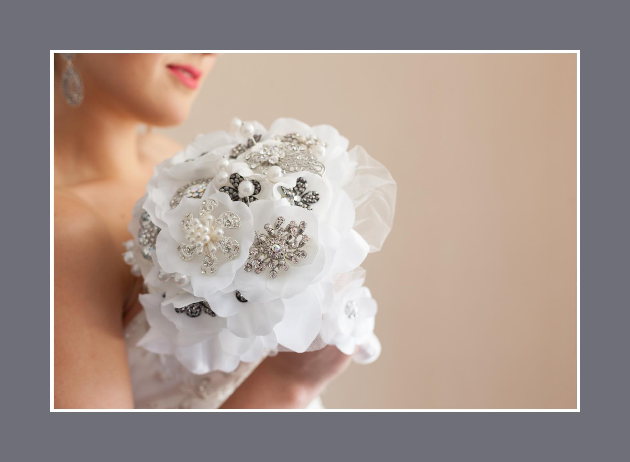 Kunstblumen Strauß schwarz Weiß