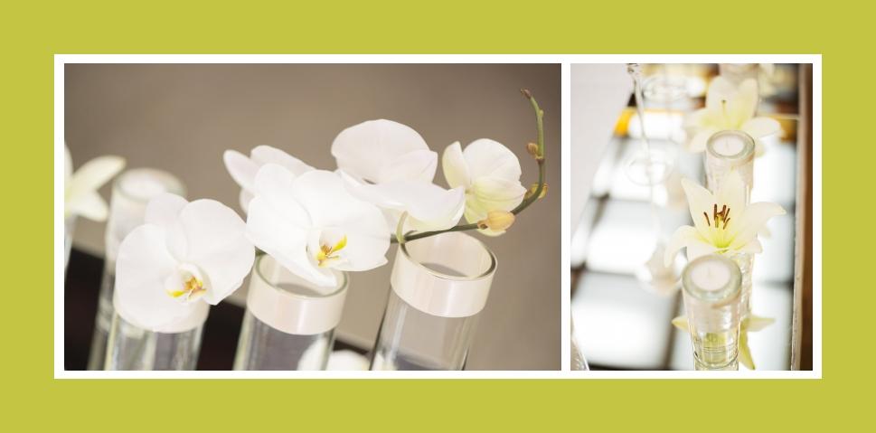 Lilien, Orchideen und Kerzen - das lichterfüllte Trio