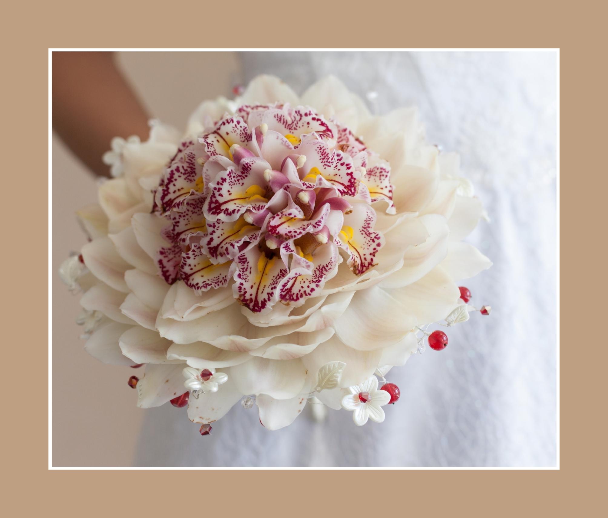 Orchideen Brautstrauß Hochzeit