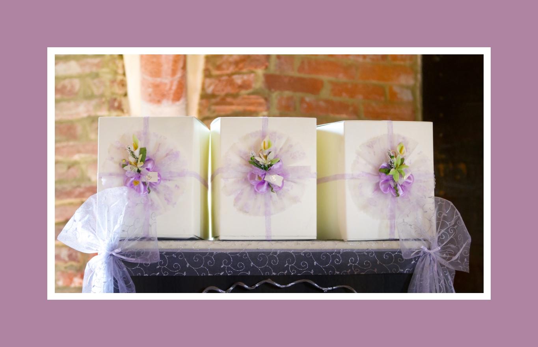 Schick dekorierte Verpackung für Gastgeschenke