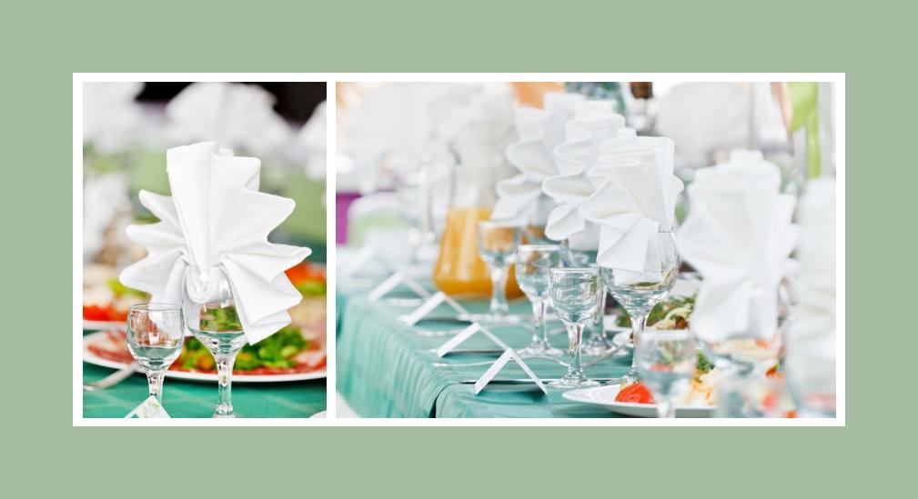 Servietten originell falten Hochzeit