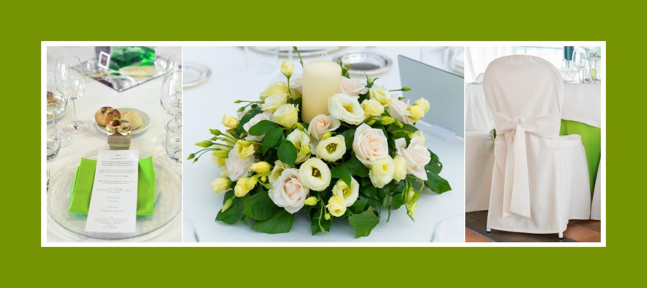 Stilvolle Blumendeko - zarte rosa und weiße Rosen rund um das Kerzenlicht