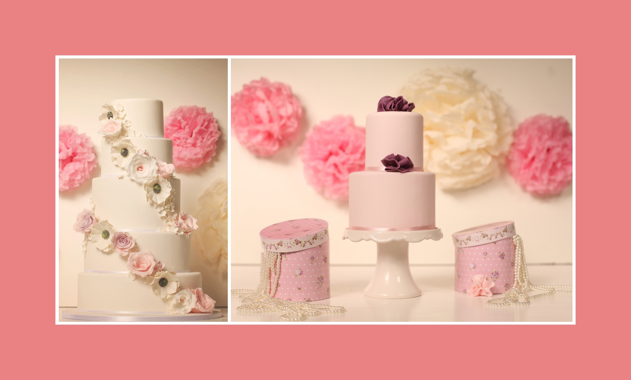 Zartheit in Rosa mit Vintage Blumen