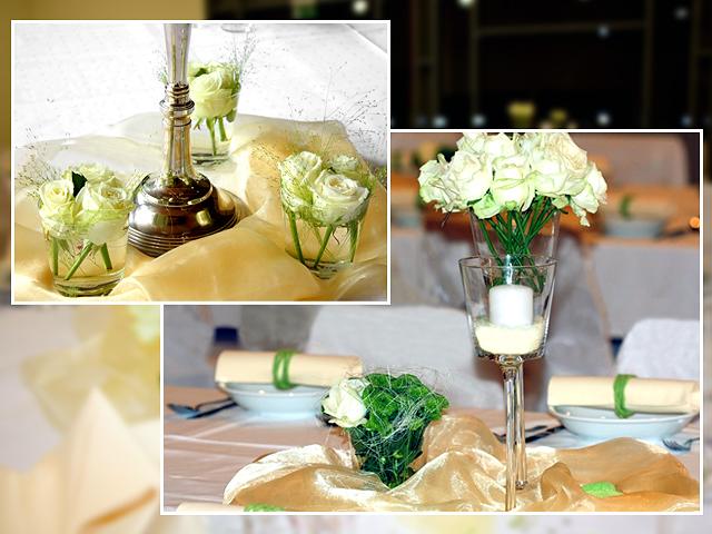 Tischdeko Hochzeit Gelb Grün