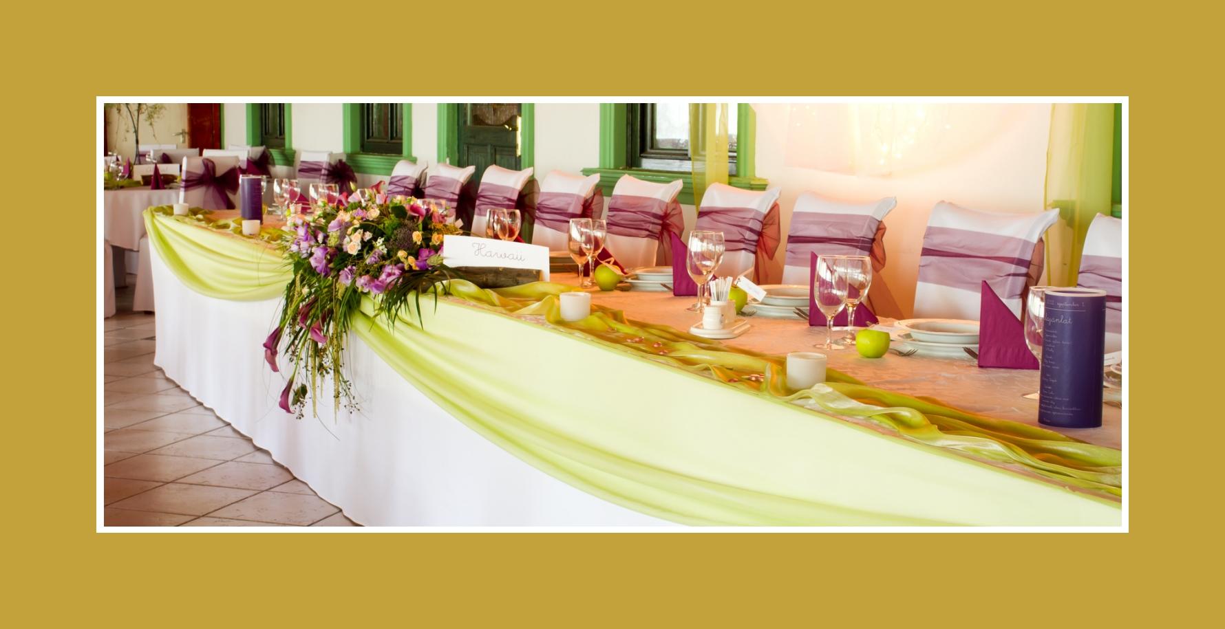 Hochzeit in Bordeaux-Apfelgrün