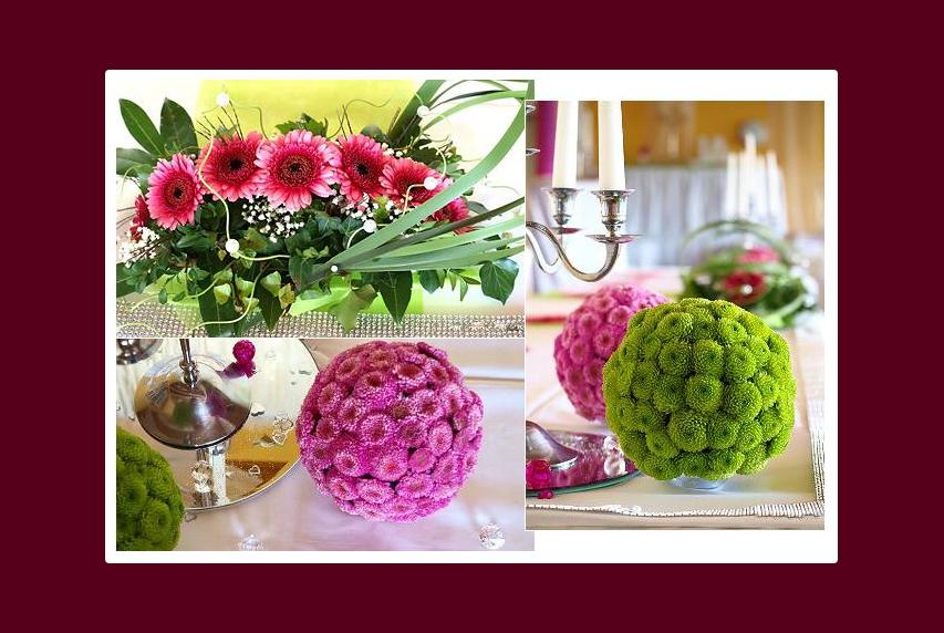Blumen auf dem Tisch – einige Ideen für Hochzeit oder Geburtstag