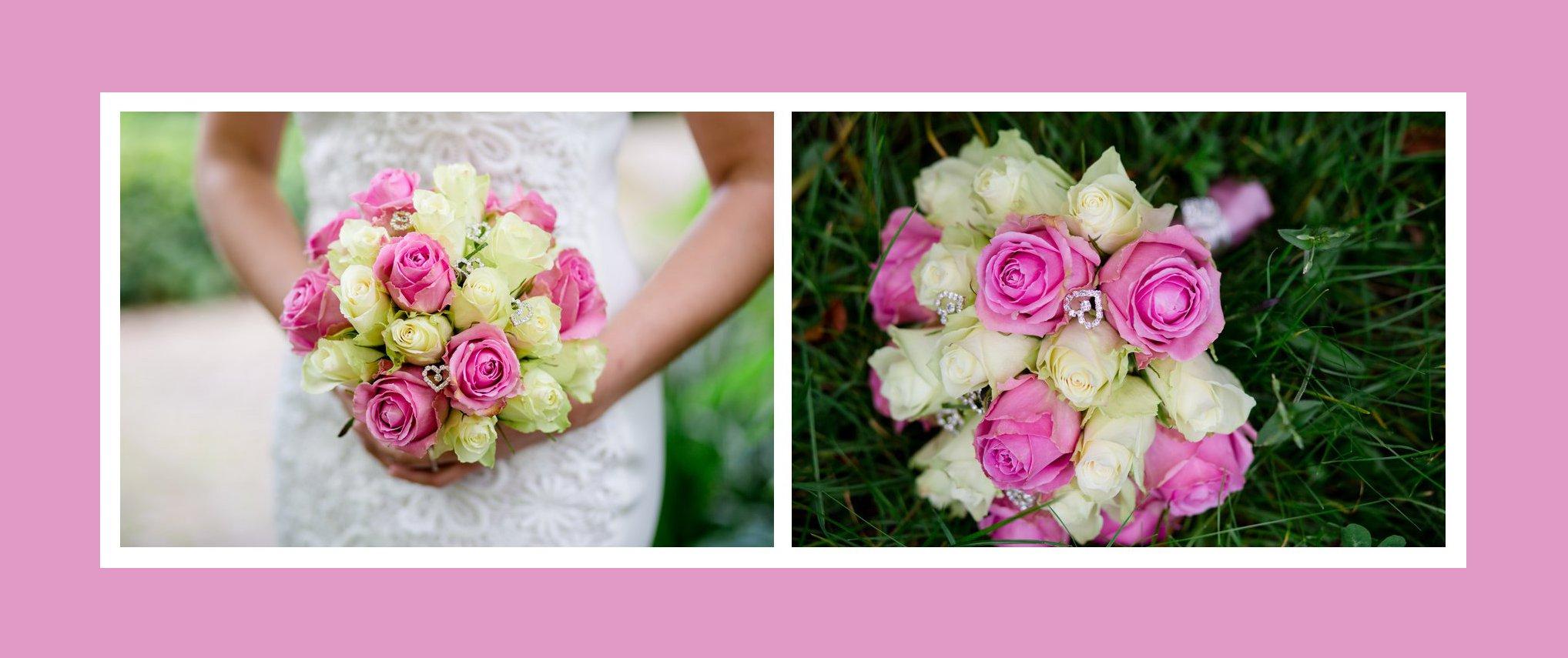 Brautstrauß Rosa-Creme aus Rosen