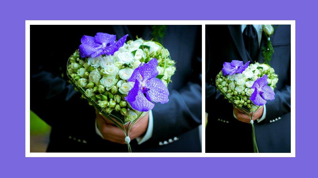 Brautstrauß Violett