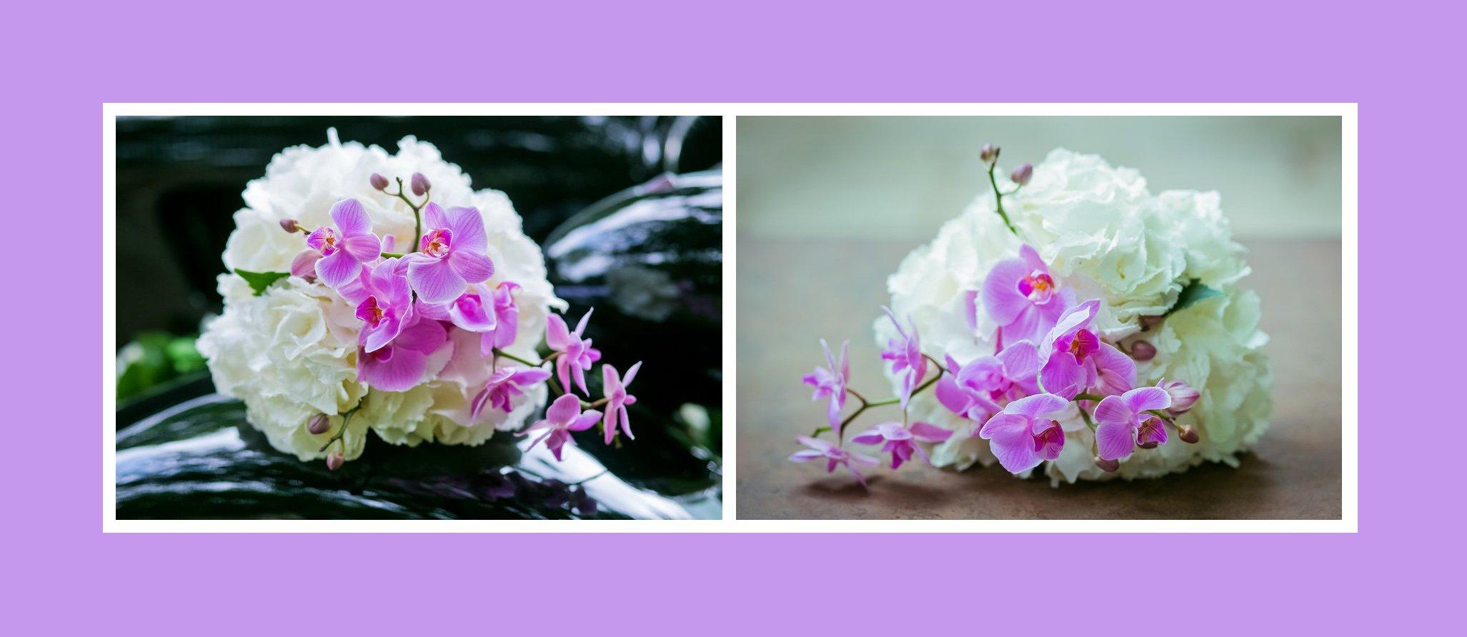 Brautstrauß – Orchideen & Pfingstrosen