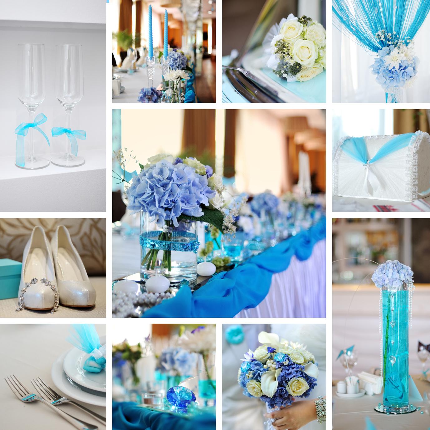 Hochzeitsmotto Türkis & Blau