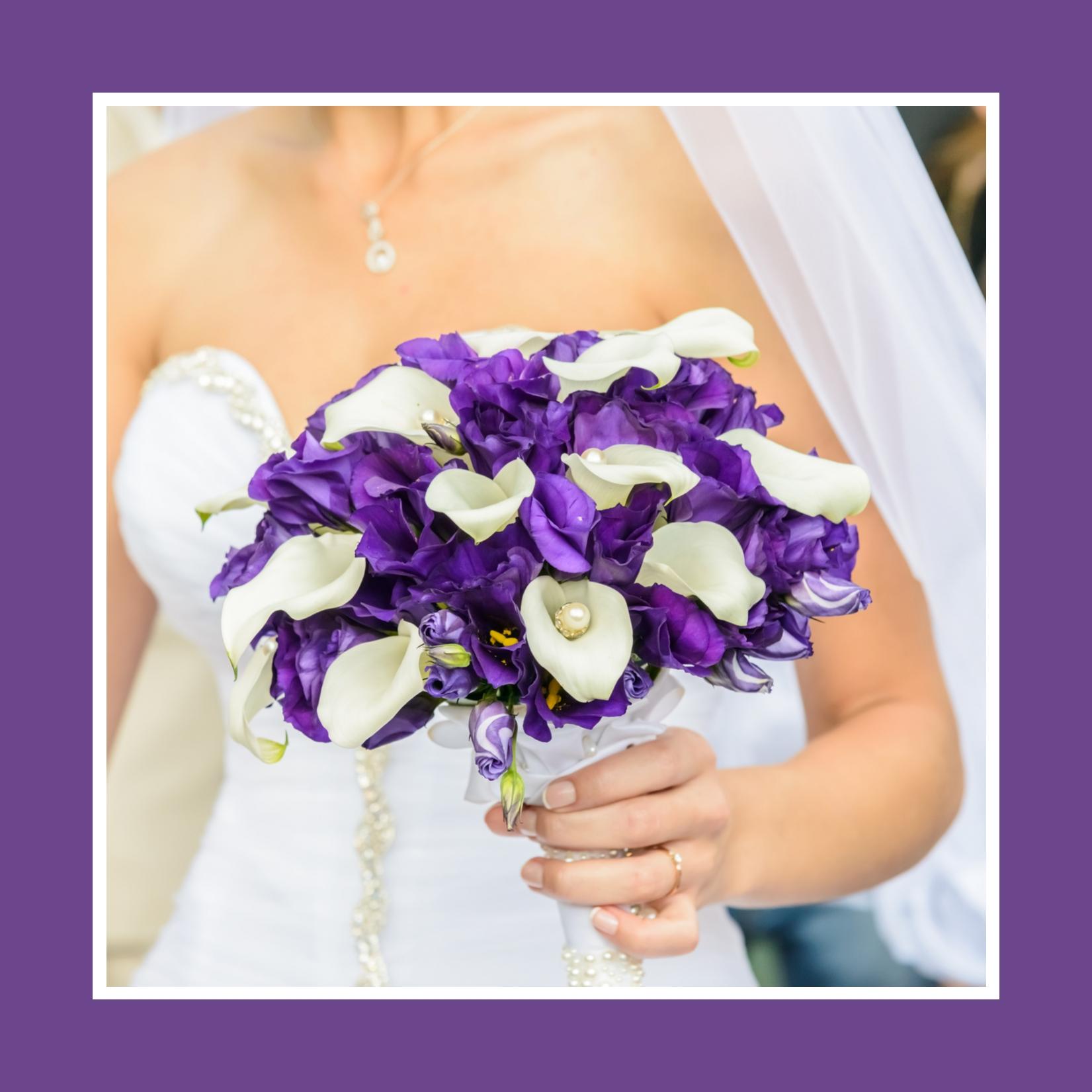 Brautstrauß in magischem Lila