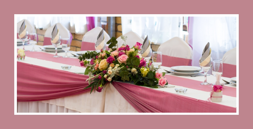 Hochzeit in Rosa, Pink, Fuchsia & Grau