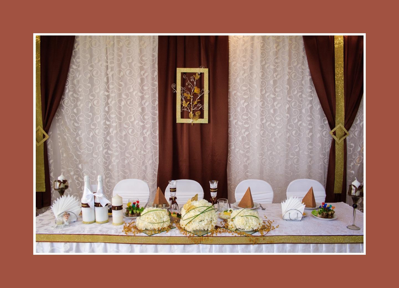 Brautpaartisch für Schokoladenhochzeit
