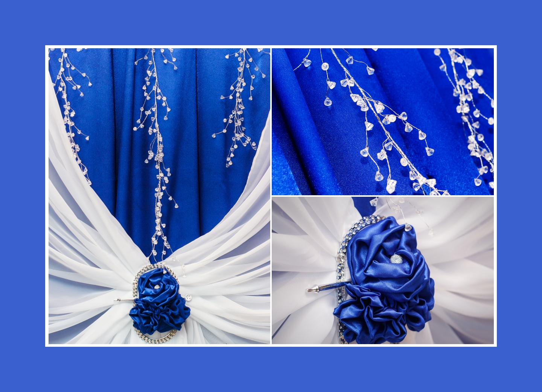 Glanzvoller Hintergrund des Brauttisches