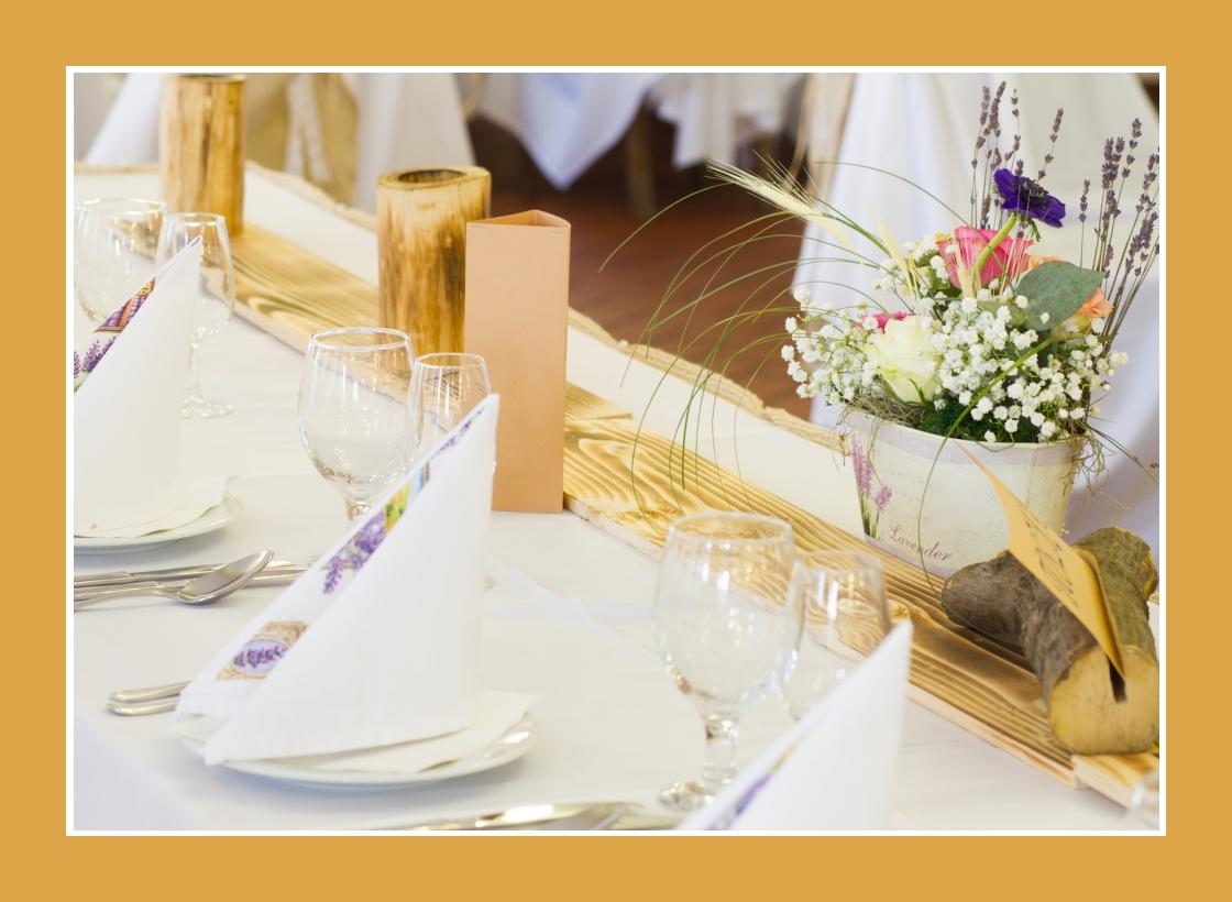 Servietten mit Lavendelmuster