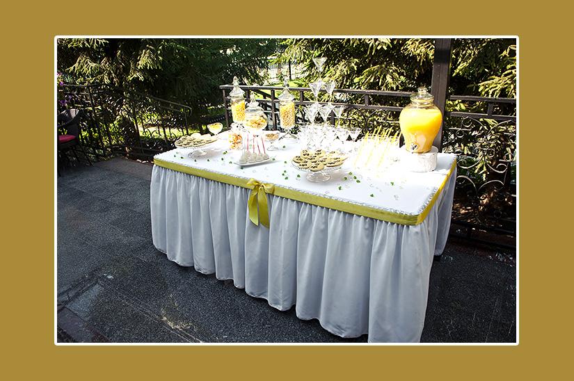 Sektempfang Hochzeit Gelb