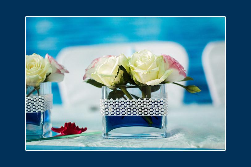 Blumendeko im Maritim Thema