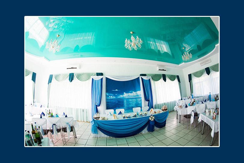 Deko des Hochzeitssaales, maritime Deko, Meeresthema