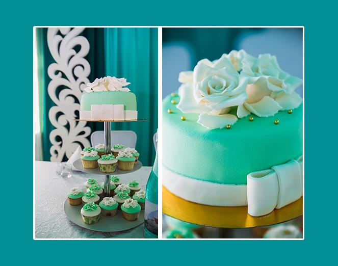 Hochzeitstorte Vintage Grün : Bild: Hochzeitstorten.info