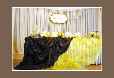 hochzeitsdeko in gelb braun vintage style vintage hochzeitsdeko ist ...