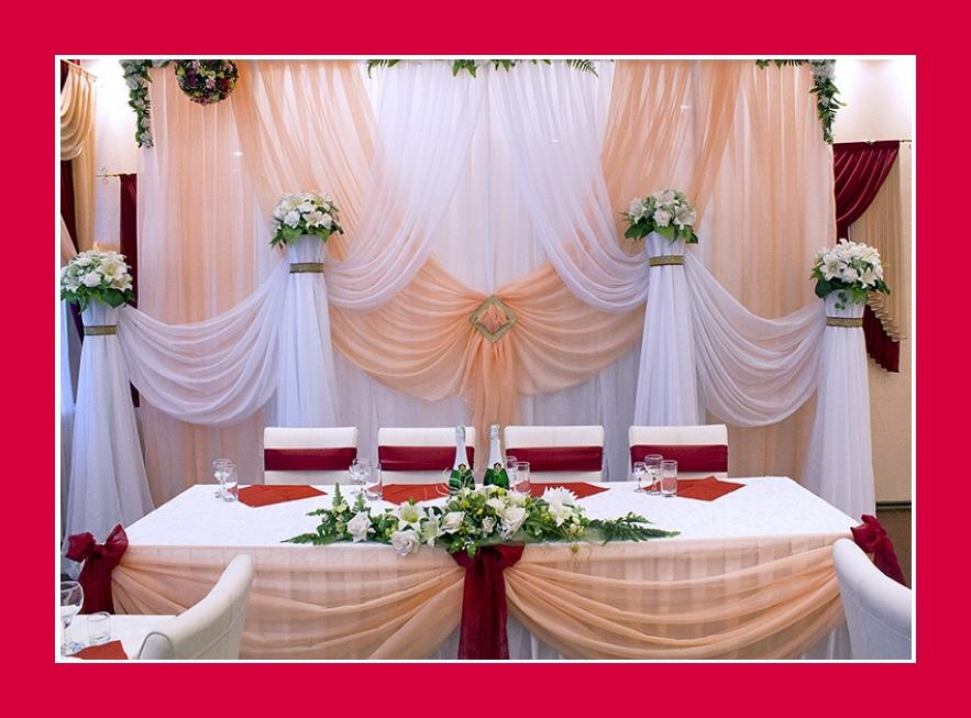 Hochzeitsdeko creme rot