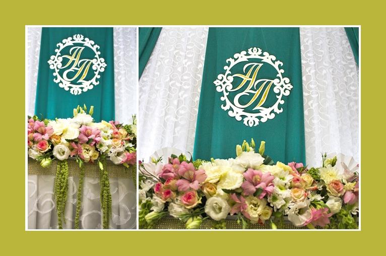 Zarte Blumendeko rosa und weiß mit Eustoma, Lilien, Rosen
