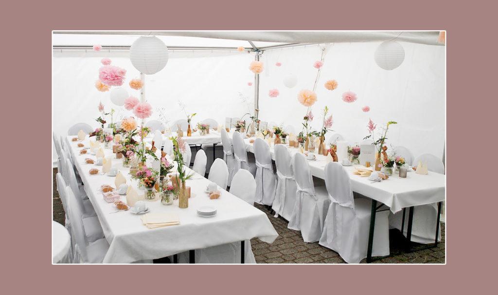 Heiraten im Zelt - Russische Hochzeit in Deutschland